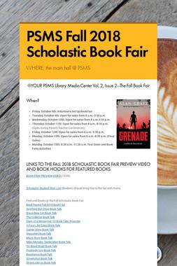 PSMS Fall 2018 Scholastic Book Fair