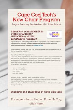 Cape Cod Tech's New Choir Program