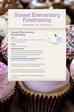 Sunset Elementary Fundraising