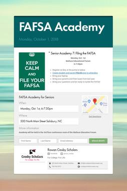 FAFSA Academy