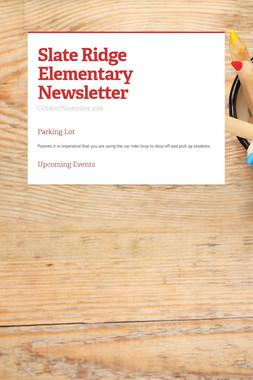Slate Ridge Elementary Newsletter