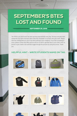 September's  BTES Lost and Found