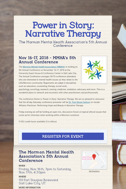 Power in Story: Narrative Therapy