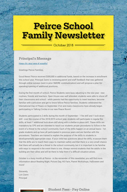 Peirce School Family Newsletter