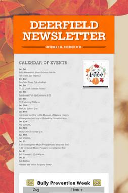 Deerfield Newsletter