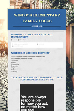 Windsor Elementary Family Focus