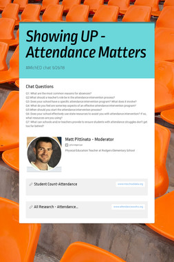 Showing UP - Attendance Matters