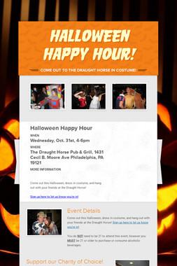 Halloween     Happy Hour!