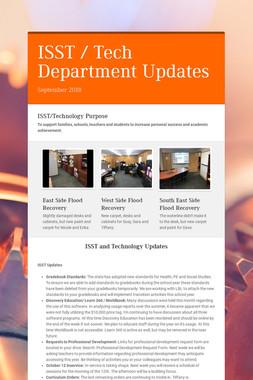 ISST / Tech Department Updates