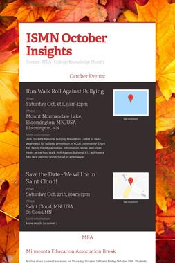 ISMN October Insights