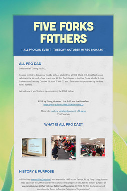 Five Forks Fathers