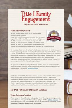 Title I Family Engagement