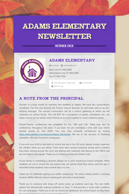 Adams Elementary Newsletter