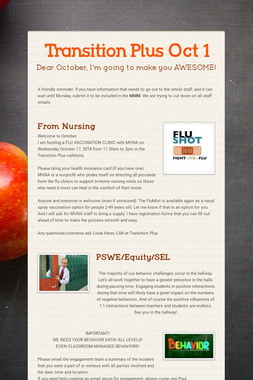Transition Plus              Oct 1