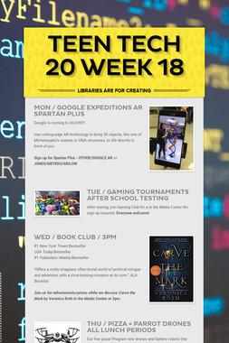 Teen Tech 20 Week 18