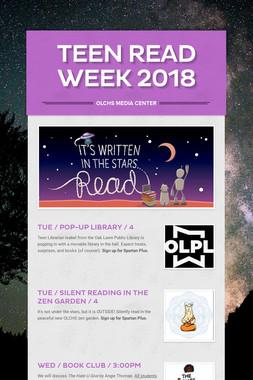 Teen Read Week 2018