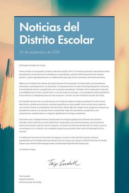 Noticias del Distrito Escolar