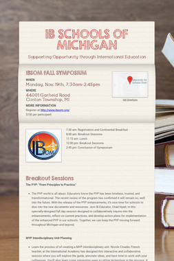 IB SCHOOLS OF MICHIGAN