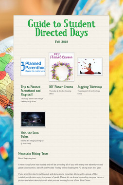 Guide to Student Directed Days
