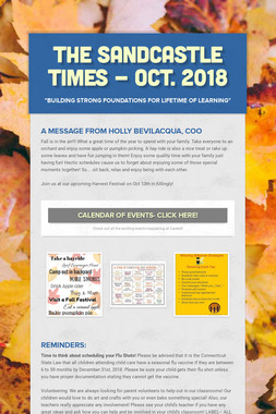 The Sandcastle Times - Oct. 2018