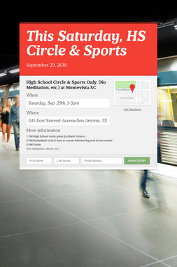 This Saturday, HS Circle & Sports
