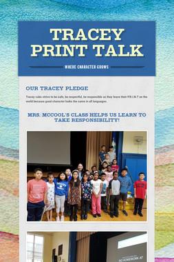 Tracey Print Talk