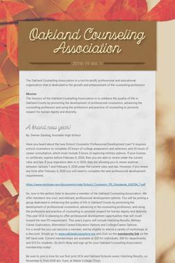 Oakland Counseling Association