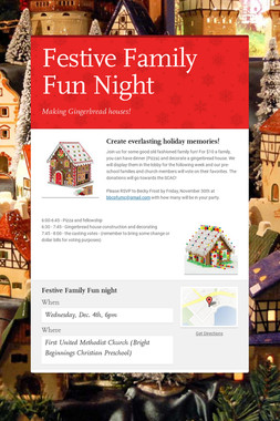 Festive Family Fun Night