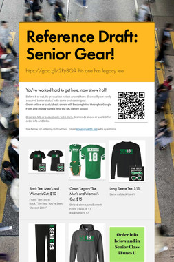 Reference Draft: Senior Gear!