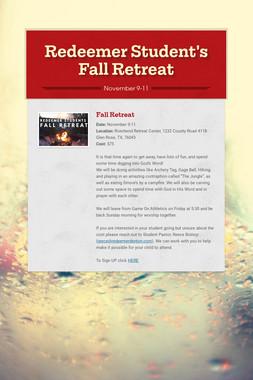 Redeemer Student's Fall Retreat