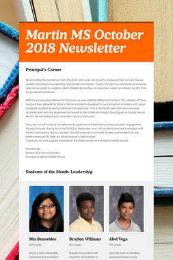 Martin MS October 2018 Newsletter