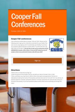 Cooper Fall Conferences