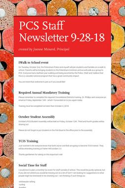 PCS Staff Newsletter 9-28-18