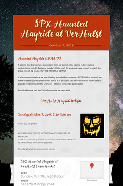 SPX Haunted Hayride at VerHulst