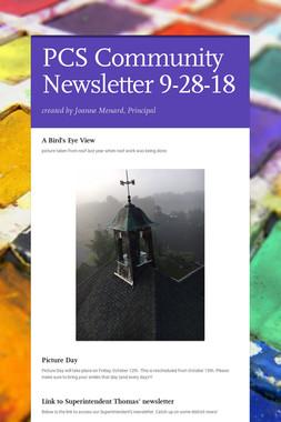 PCS Community Newsletter 9-28-18