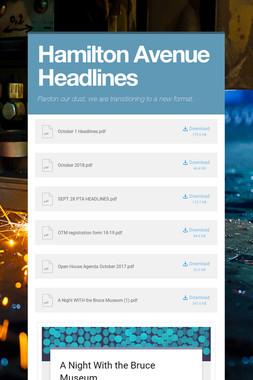Hamilton Avenue Headlines