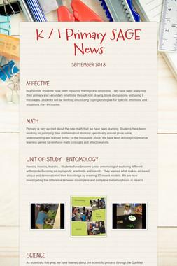 K / 1 Primary SAGE News