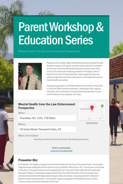 Parent Workshop & Education Series