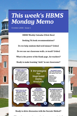 This week's HBMS Monday Memo