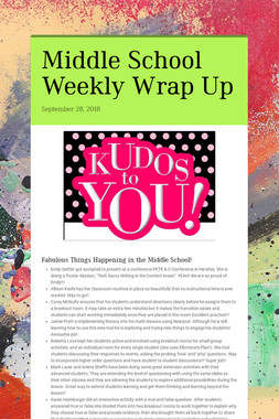 Middle School Weekly Wrap Up