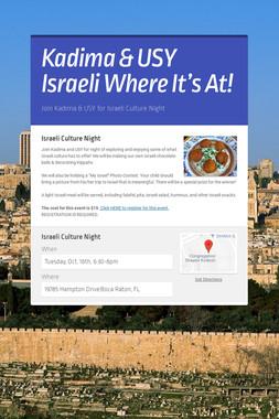 Kadima & USY Israeli Where It's At!