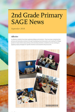 2nd Grade Primary SAGE News