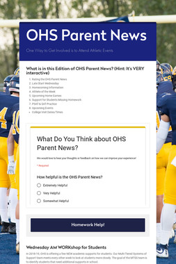 OHS Parent News