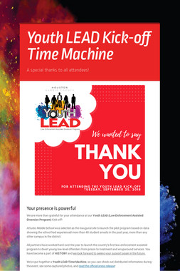 Youth LEAD Kick-off Time Machine