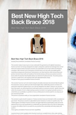 Best New High Tech Back Brace 2018