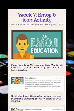 Week 7: Emoji & Icon Activity