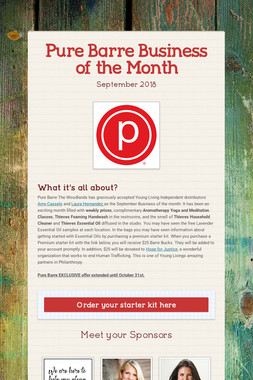 Pure Barre Business of the Month