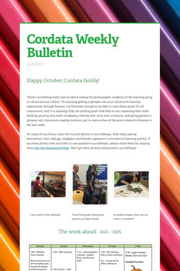 Cordata Weekly Bulletin