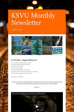 KSVU Monthly Newsletter