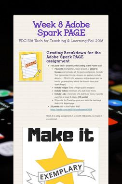 Week 8 Adobe Spark PAGE